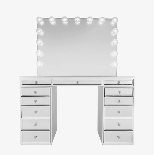 Slaystation Premium Mirrored Table Glow Pro Vanity Mirror Bundle