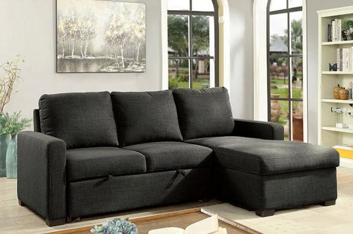 Arabella Dark Gray Sectional Sofa