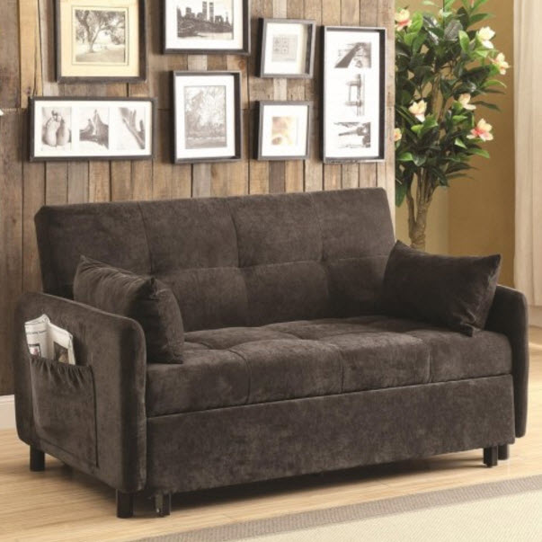 Dark Brown Sofa Bed by Coaster Furniture