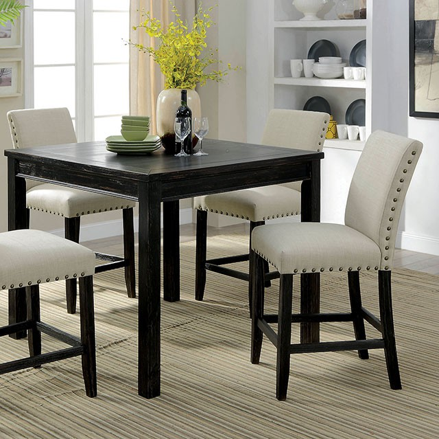 Kristie Complete 5 Piece Counter Height Dining Table Set