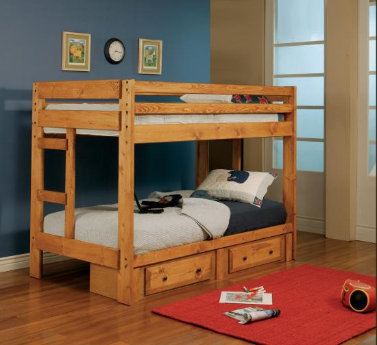 Amber Wash Bunk Bed Only