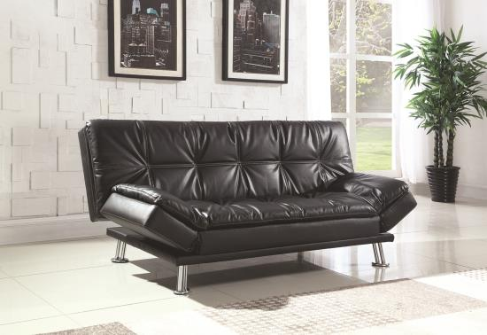 dilleston contemporary styled futon sleeper sofa bed