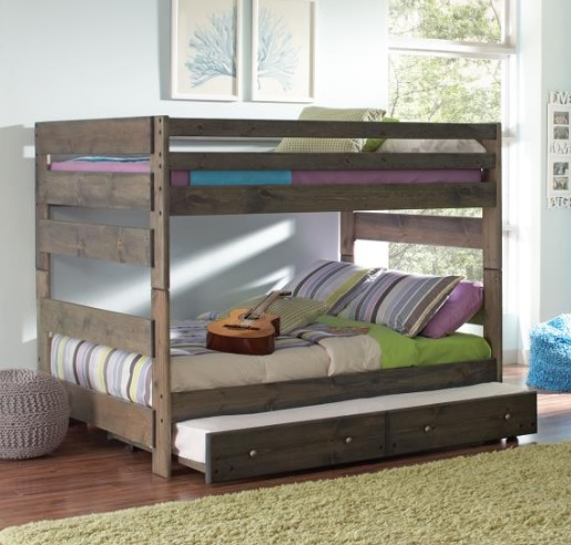 Gun Smoke Bunk Bed with Trundle