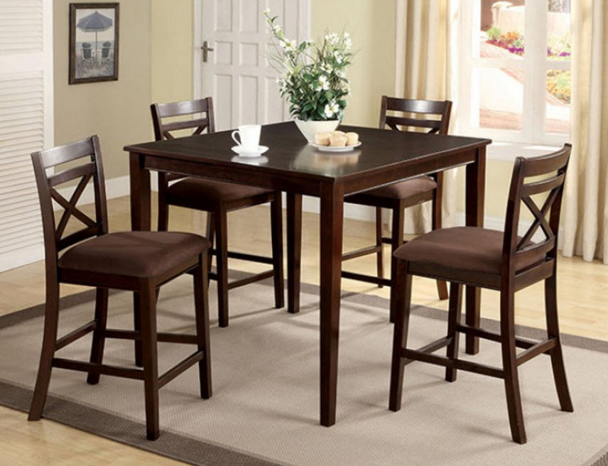 : 5 piece counter height table set - Pezcame.Com