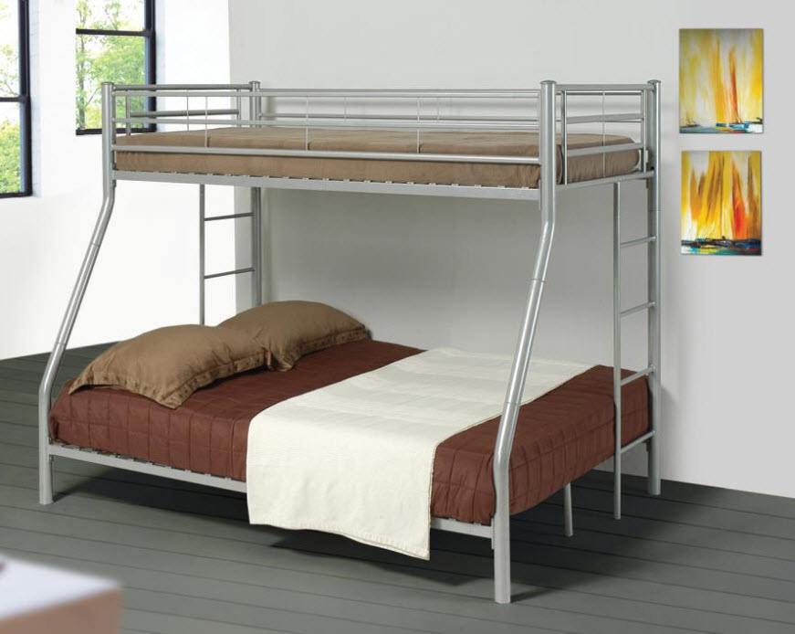 Silver T/F Bunk Bed