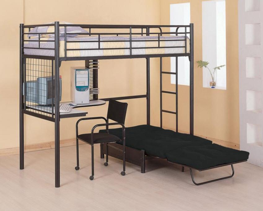 Twin Futon Workstation Loft Bed