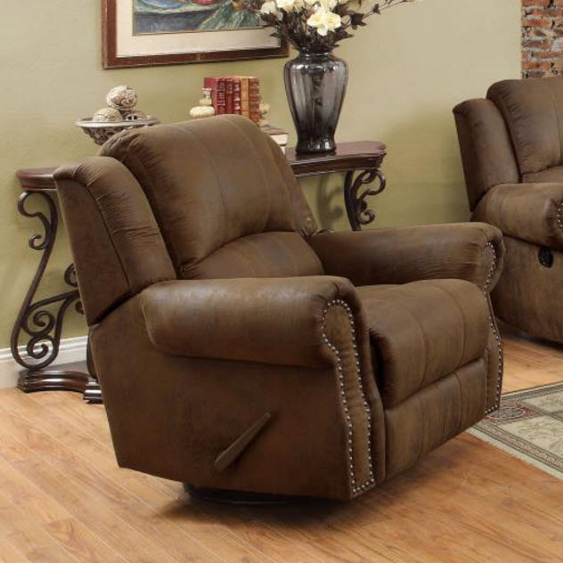 Sir Rawlinson Traditional Swivel Rocker Recliner With