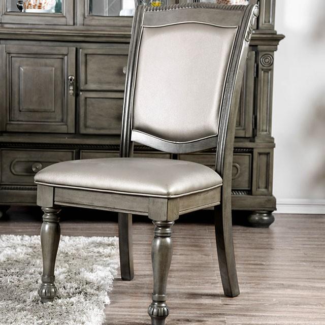 Gray Armless Chair