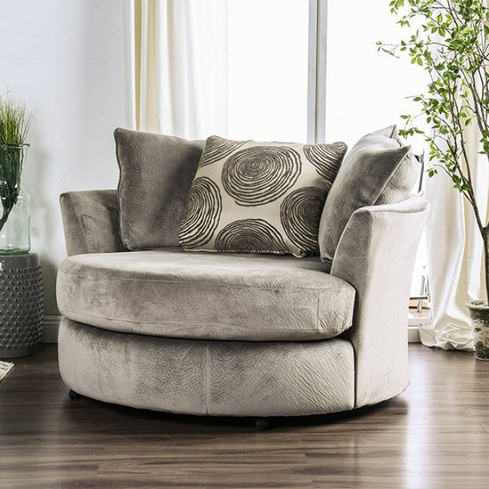 Gray Swivel Chair