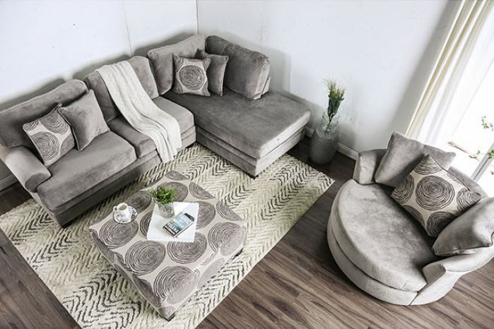 Gray Sectional Custom Set