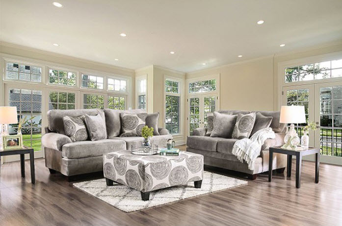 Gray Sofa Custom Set