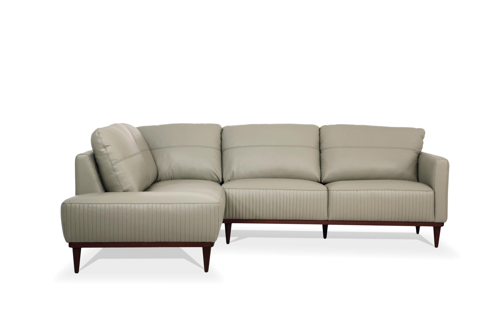 Airy Green Sectional Sofa w/ Left Facing Chaise Front