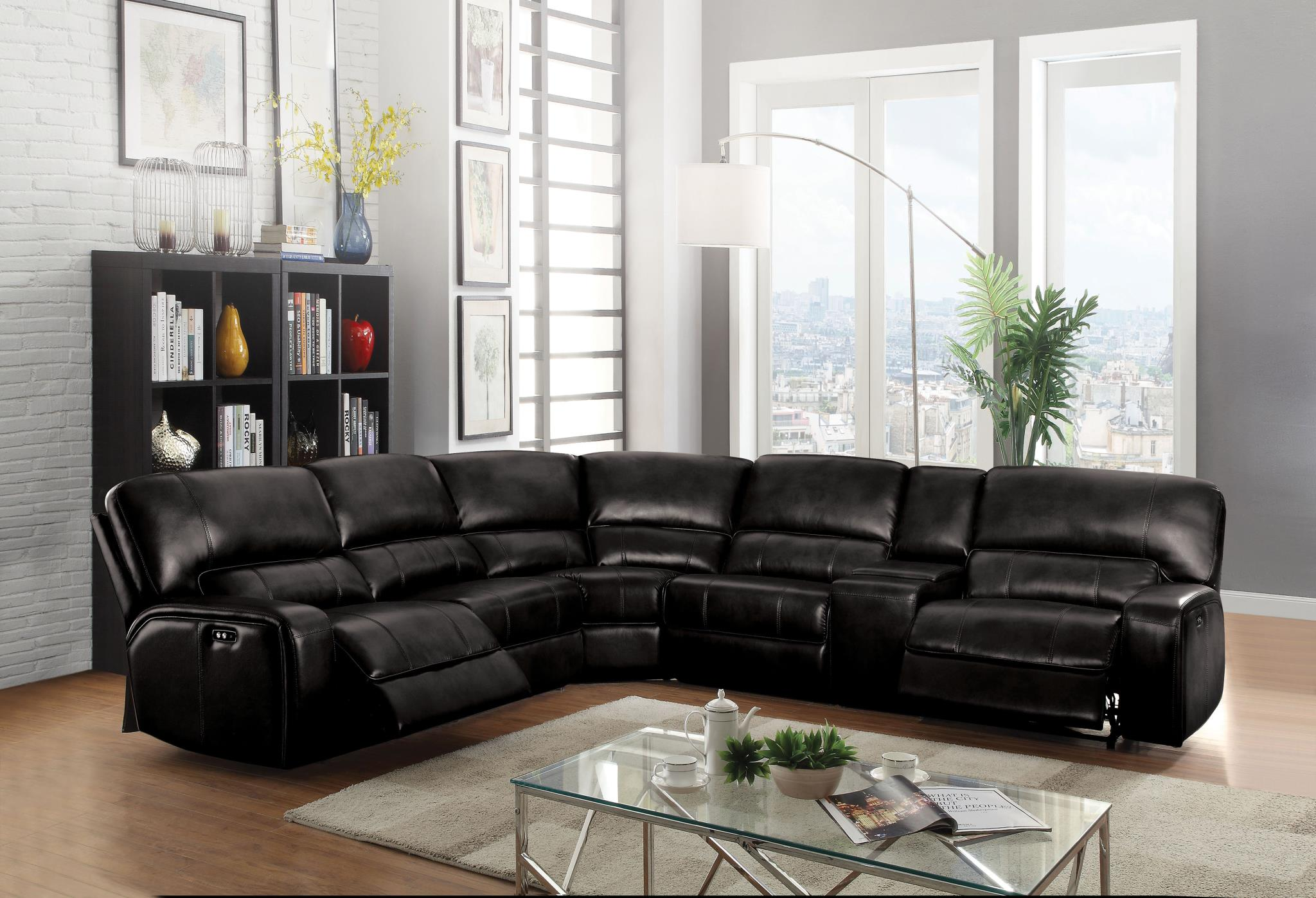 Black Complete Sectional Sofa