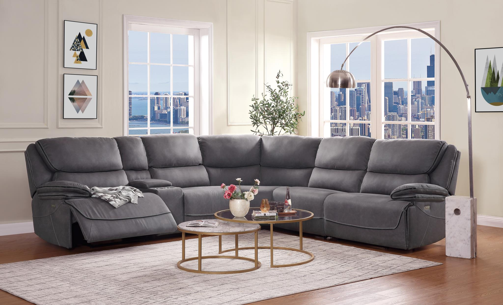 Power Motion Reclining Sectional Sofa