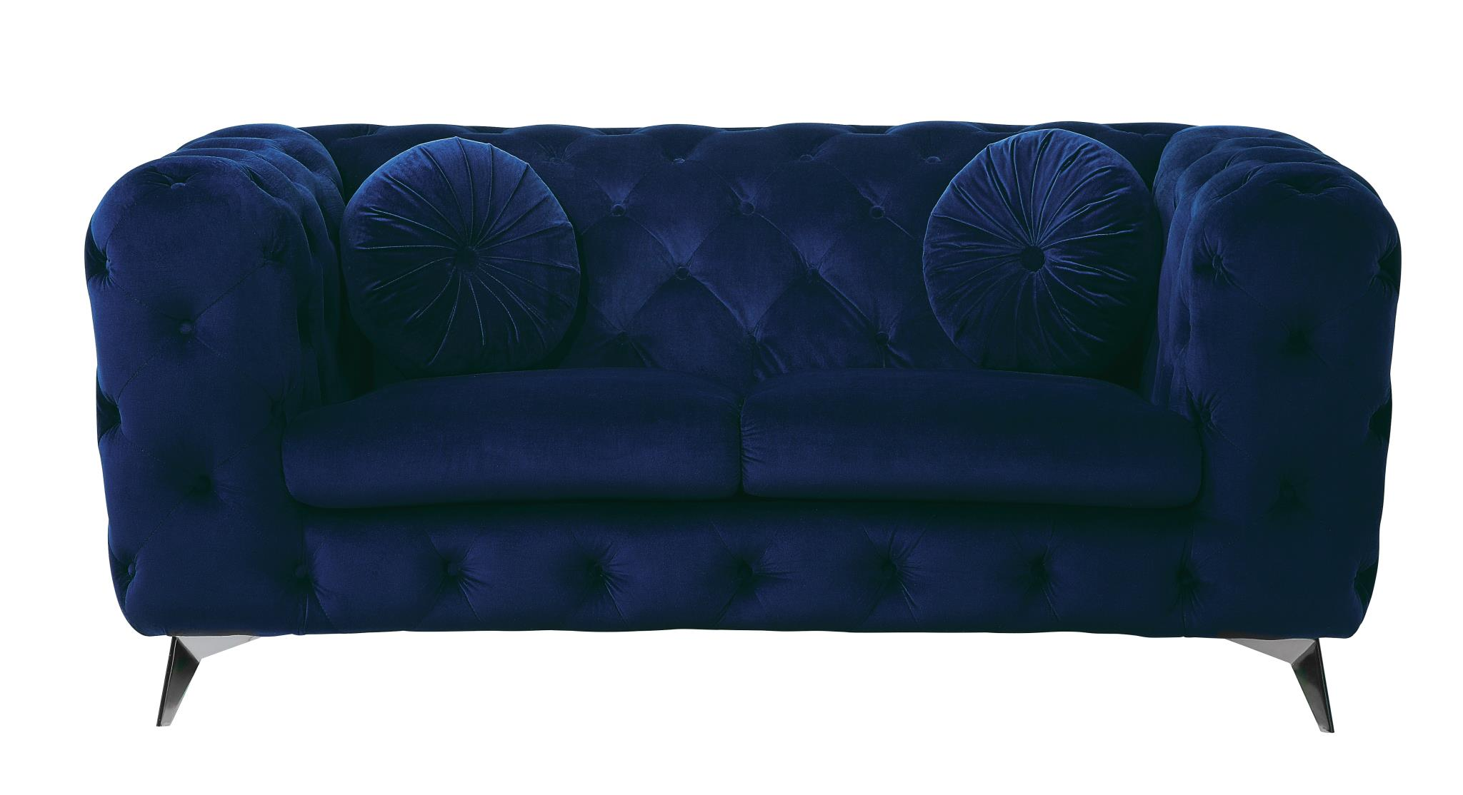 Blue Loveseat Front