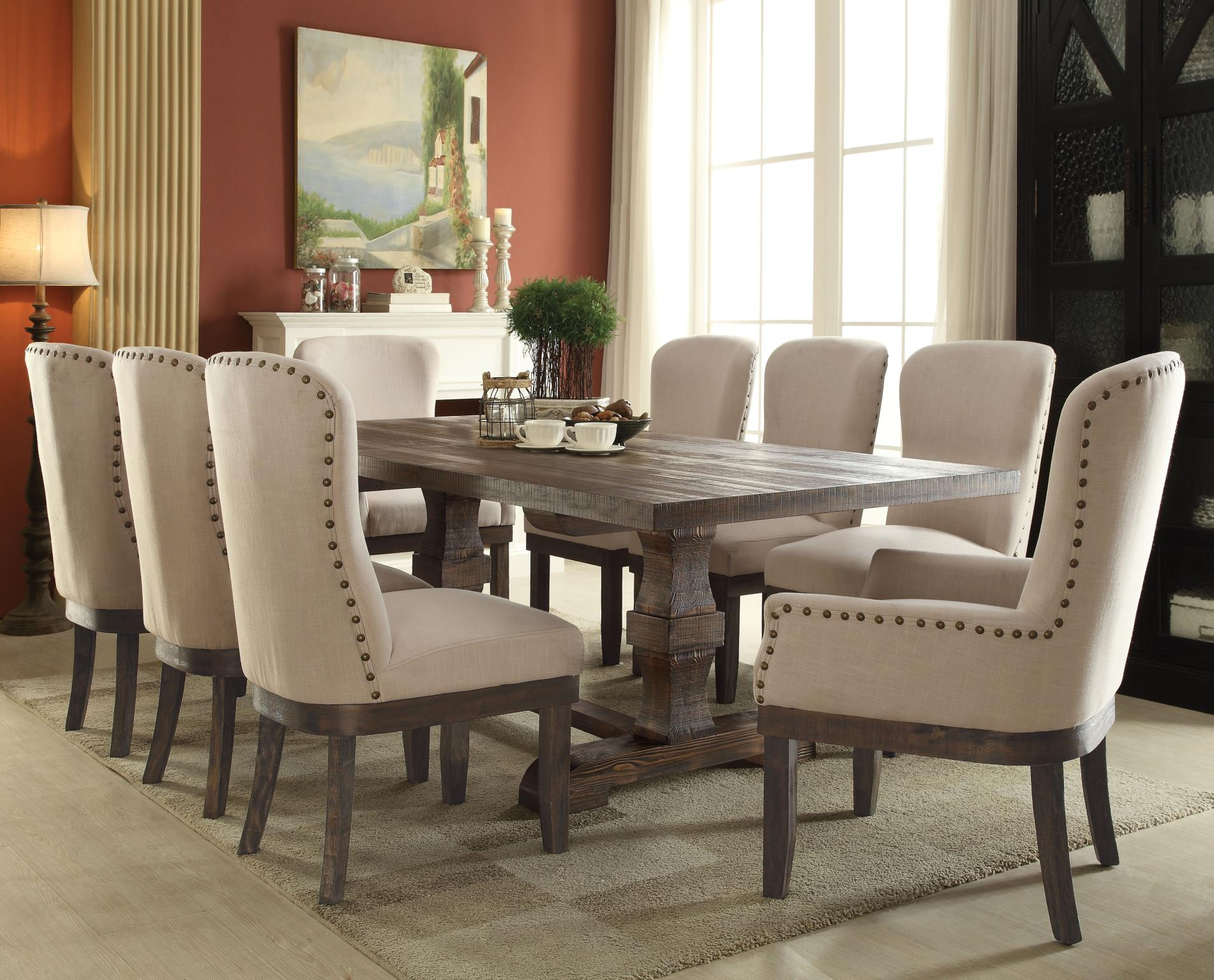 Complete Dining Table Set w/ 8 Chairs