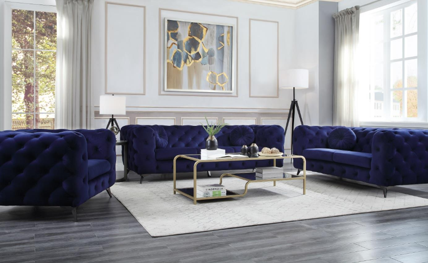 Blue Complete Sofa Set