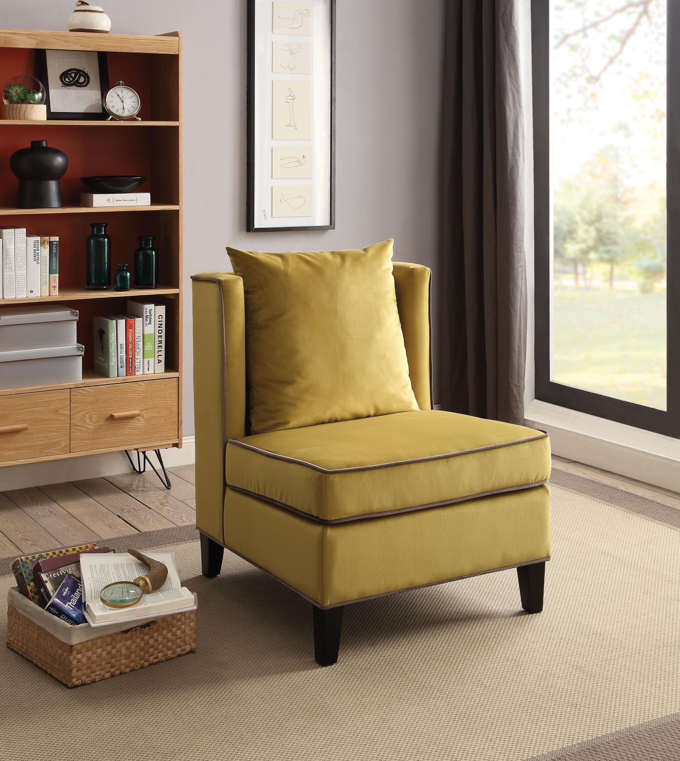 Chartreuse Yellow Accent Chair