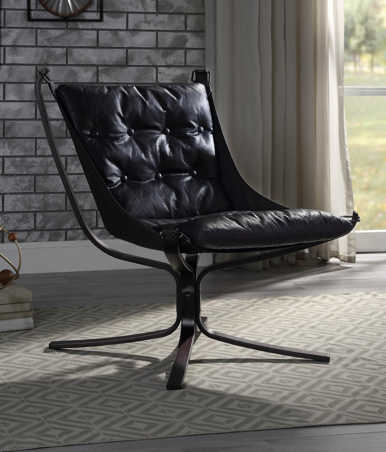 Vintage Blue Accent Chair