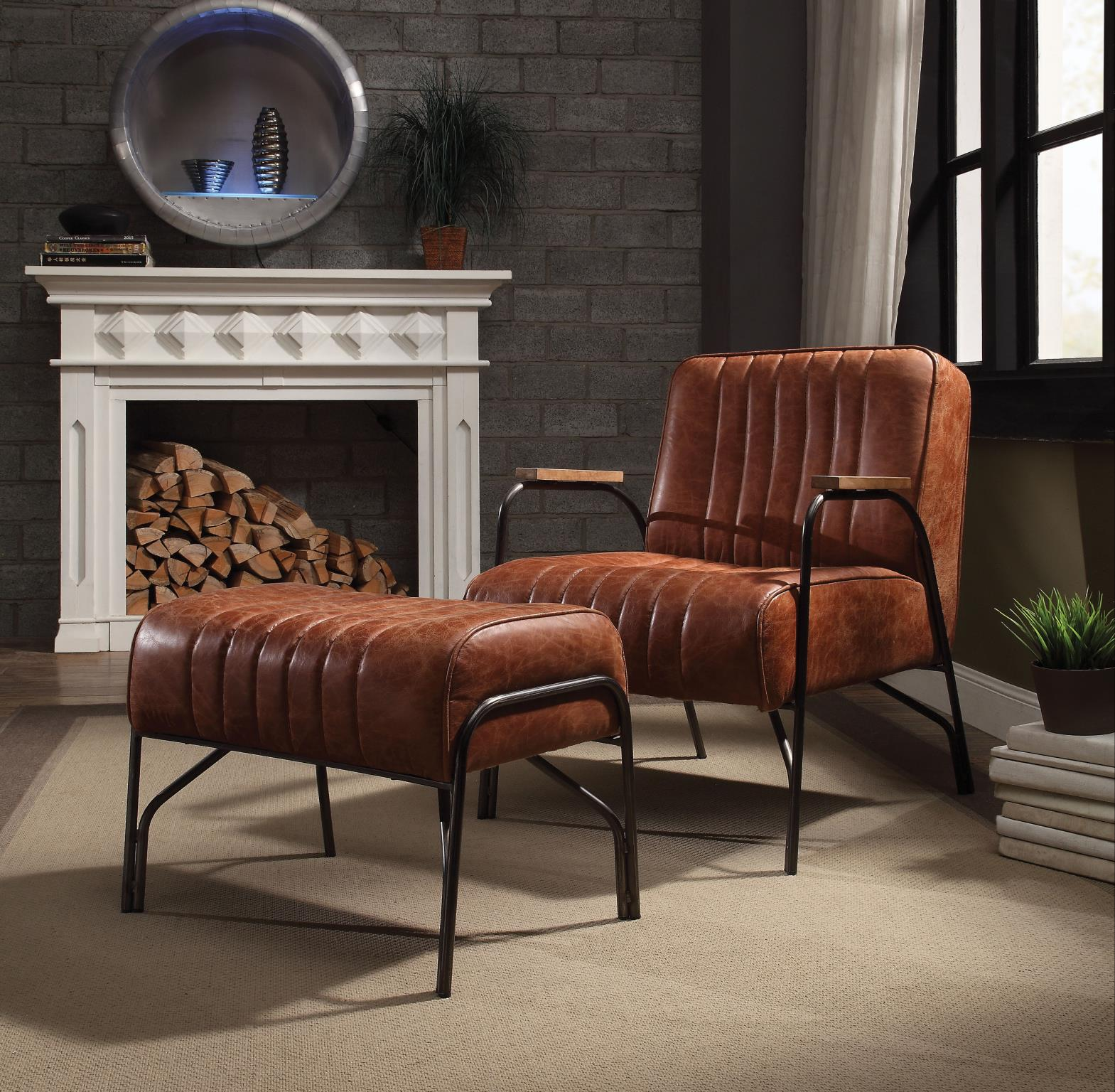 Cocoa Chair and Ottoman