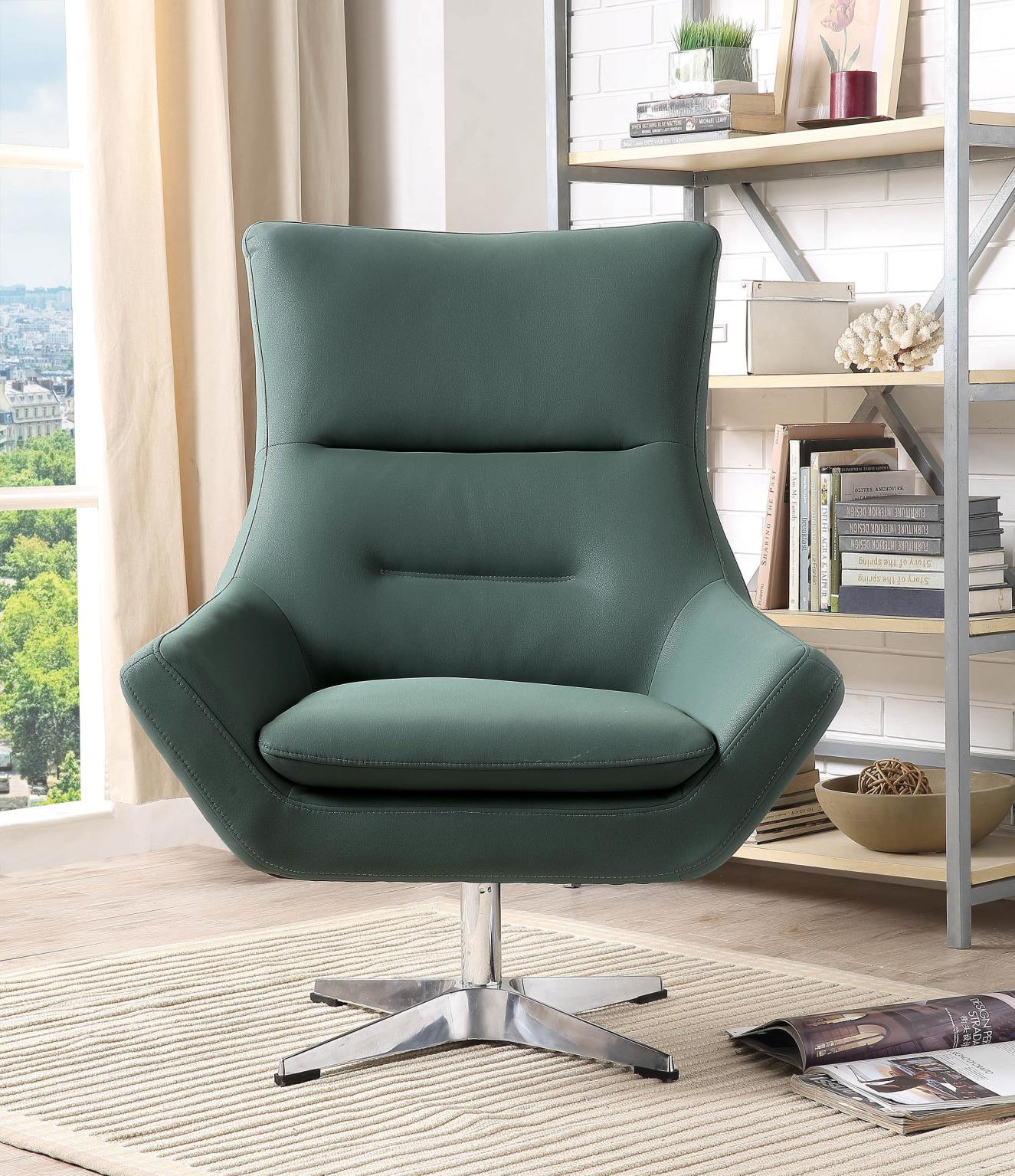 Green Accent Chair Front