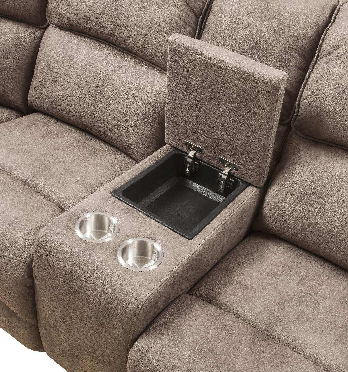 Console w/ Cup Holders & Storage