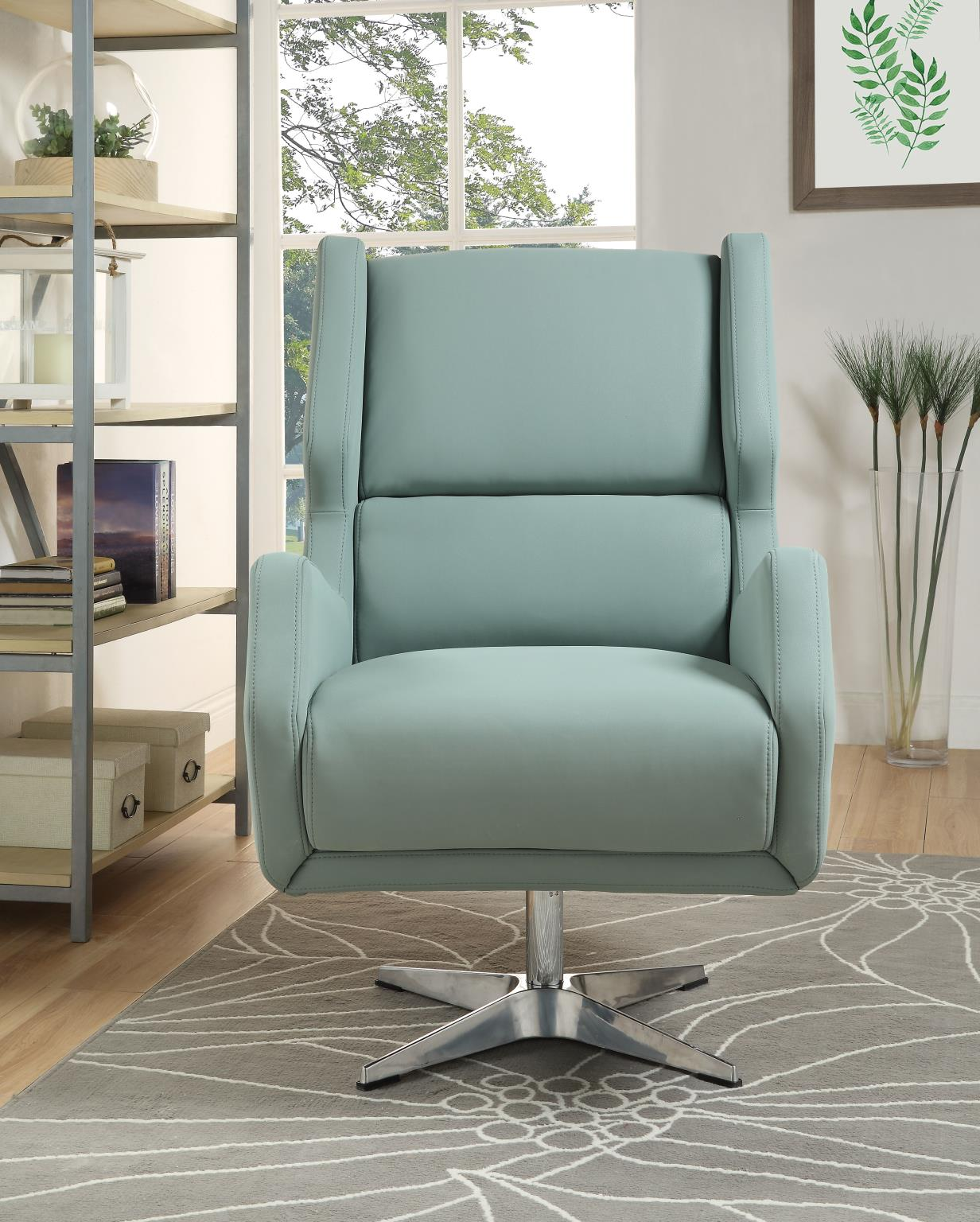 Gray Stone Accent Chair Front