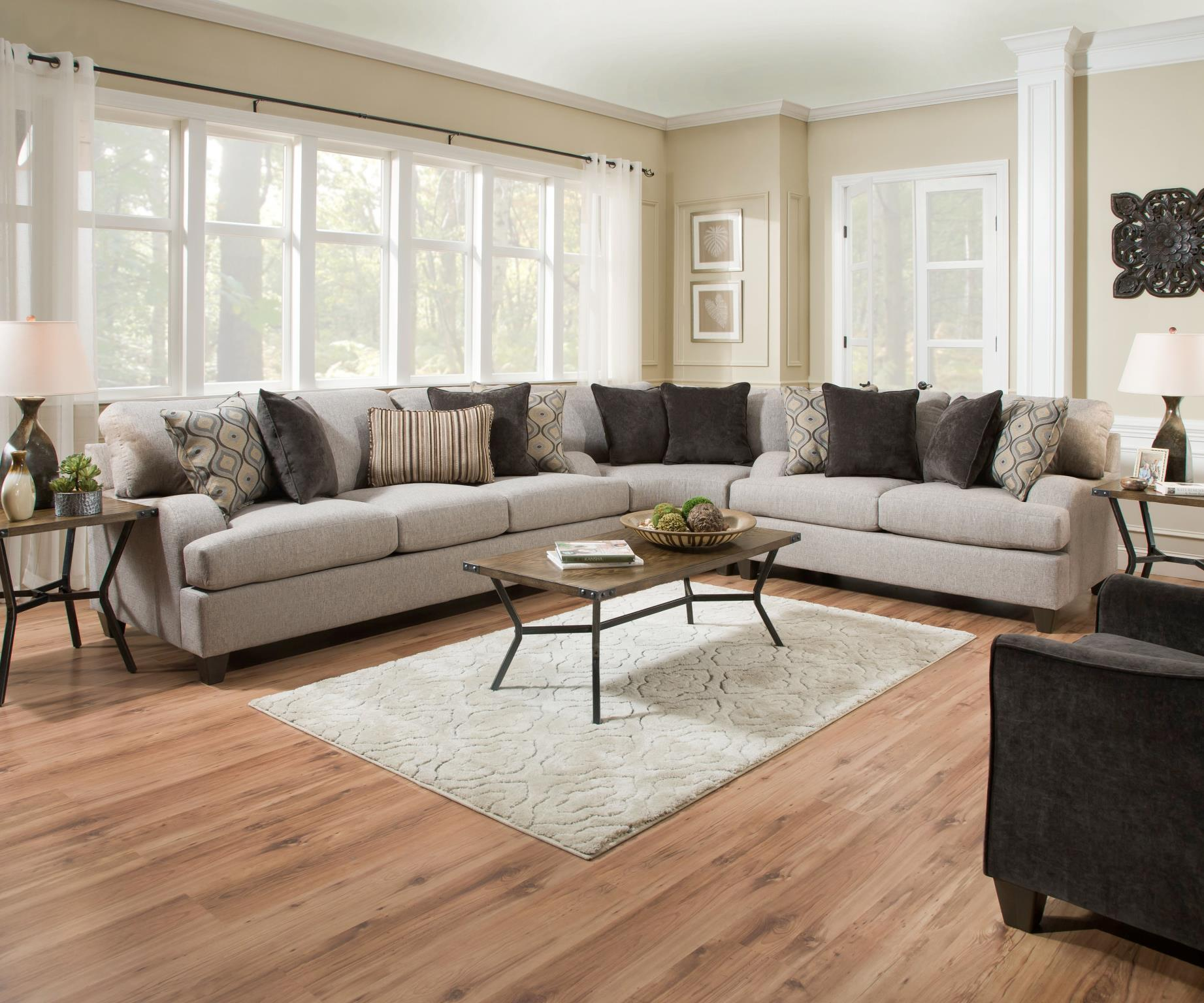 Complete Sofa Set Made Into Sectional Sofa
