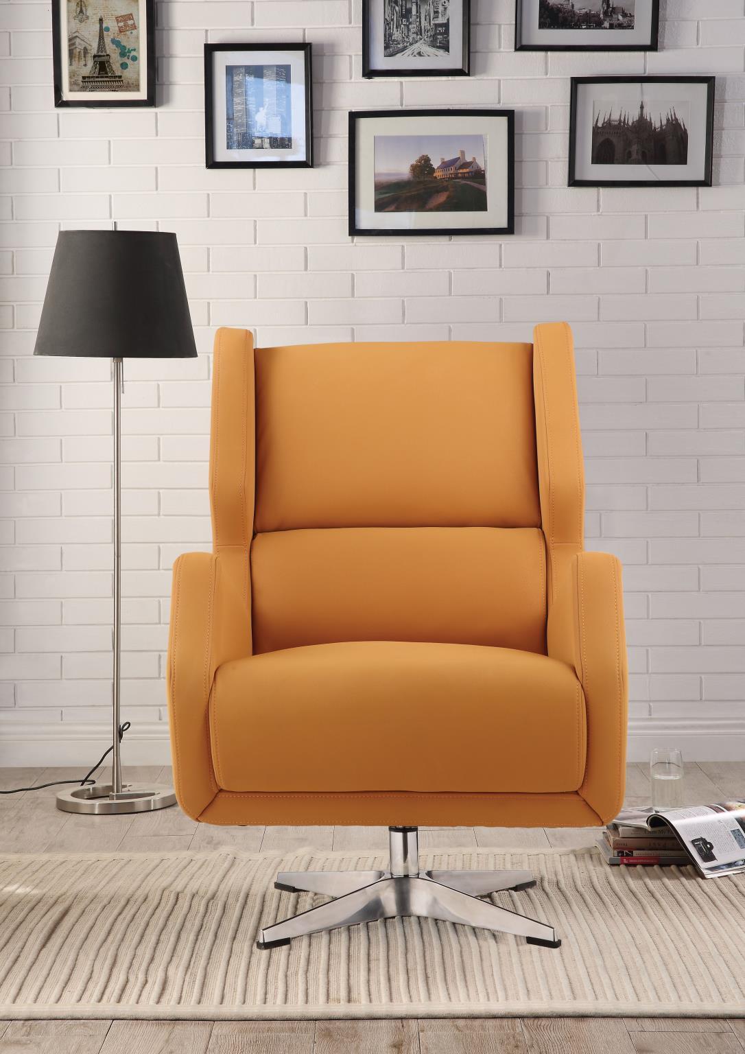 Orange Accent Chair Front