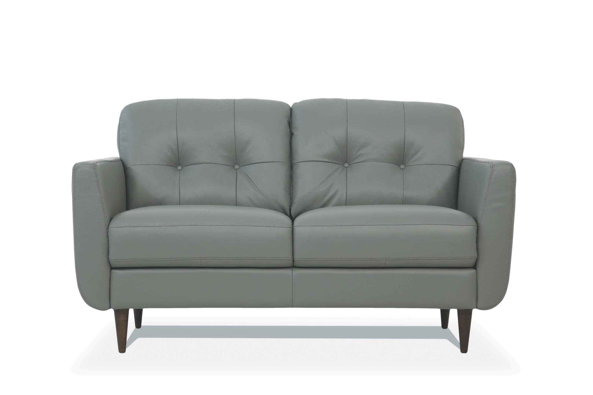 Pesto Green Loveseat Front