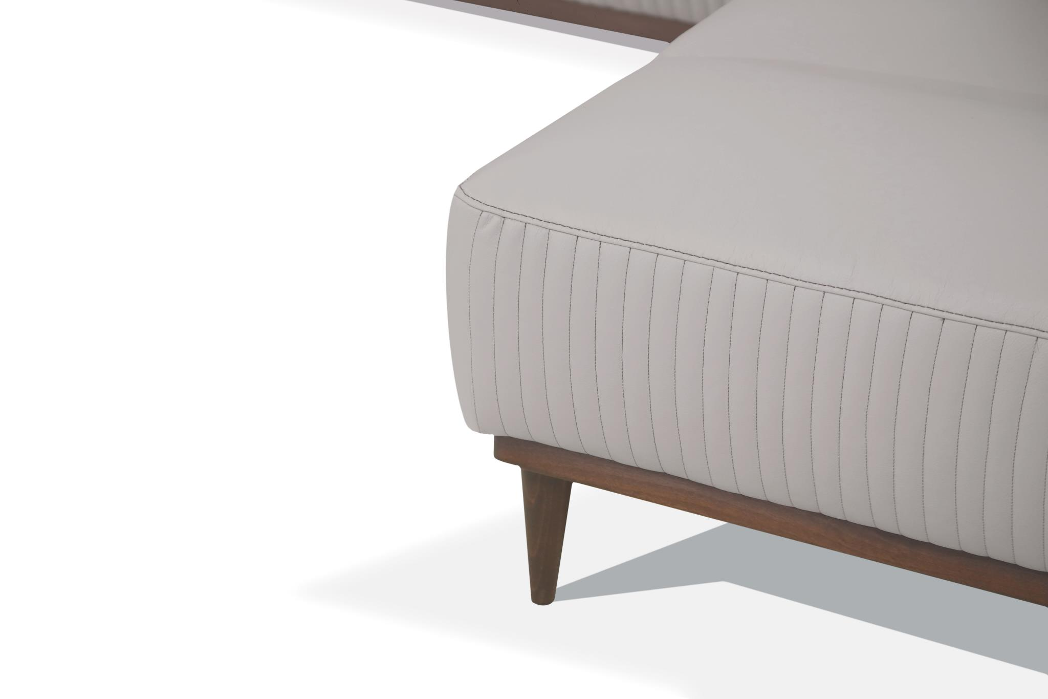 Pearl Gray Right Facing Chaise Details