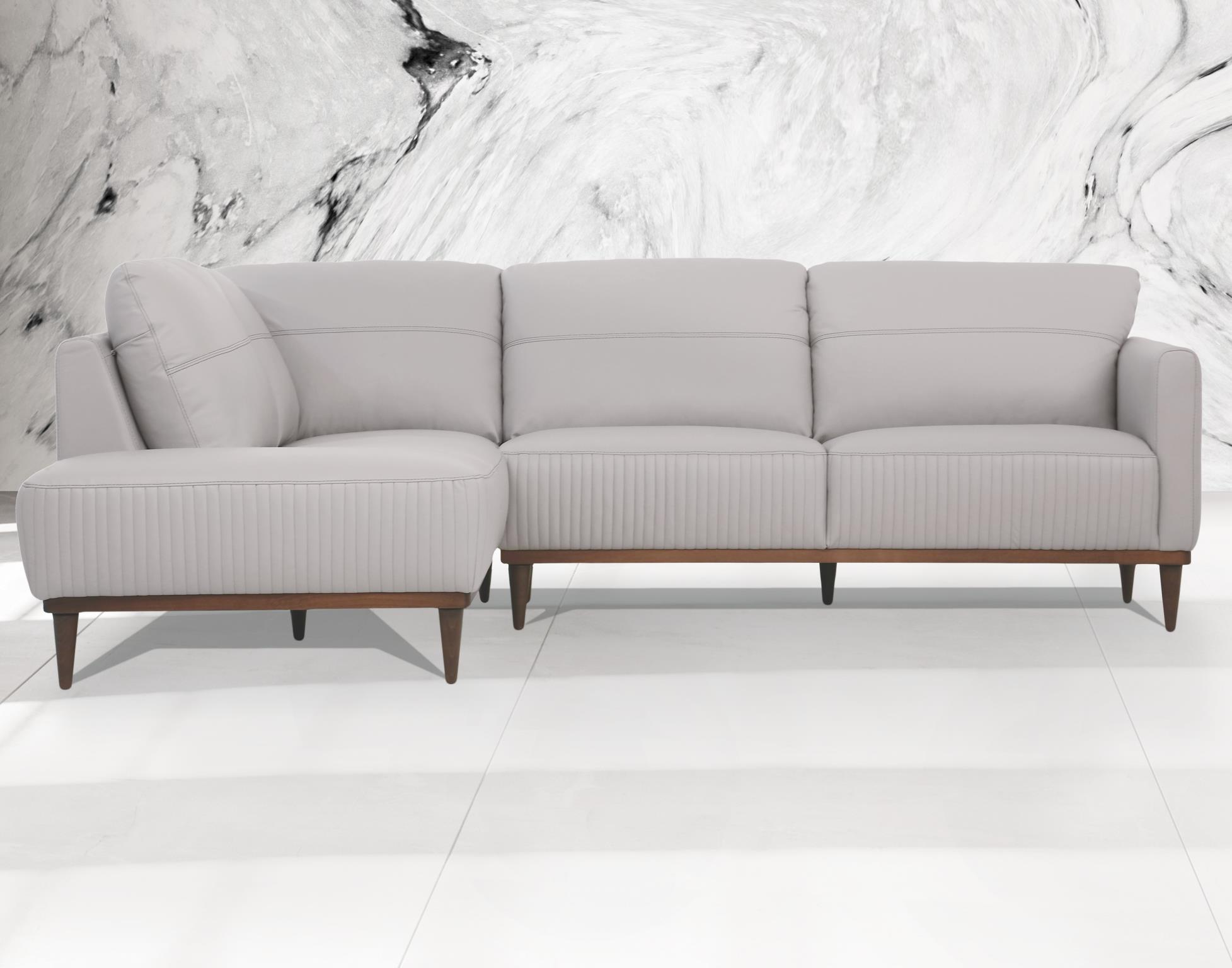 Pearl Gray Sectional Sofa w/ Left Facing Chaise