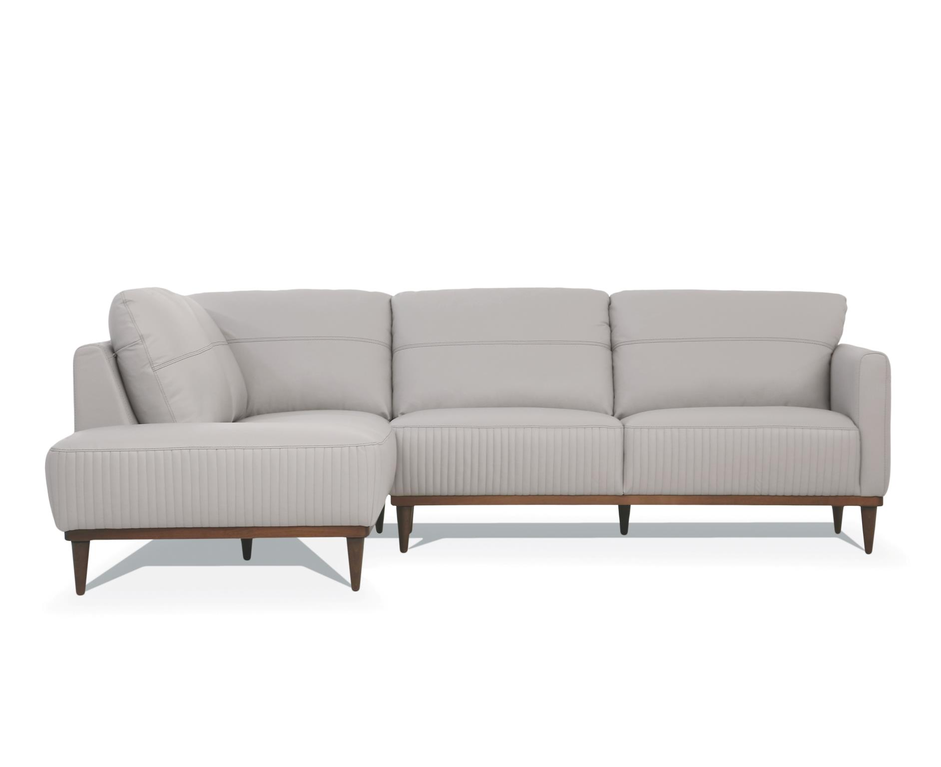 Pearl Gray Sectional Sofa w/ Left Facing Chaise Front