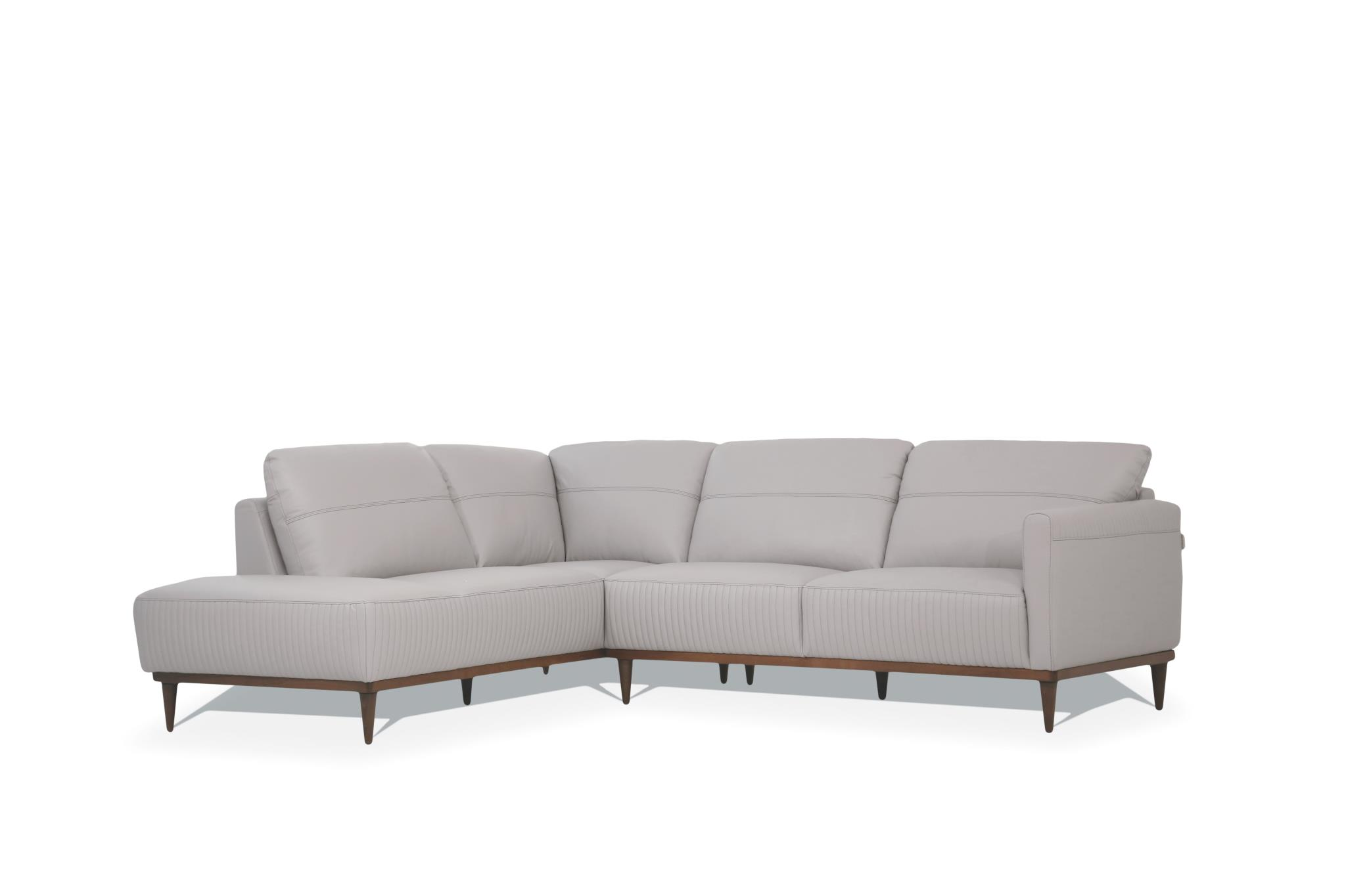 Pearl Gray Sectional Sofa w/ Left Facing Chaise Angle