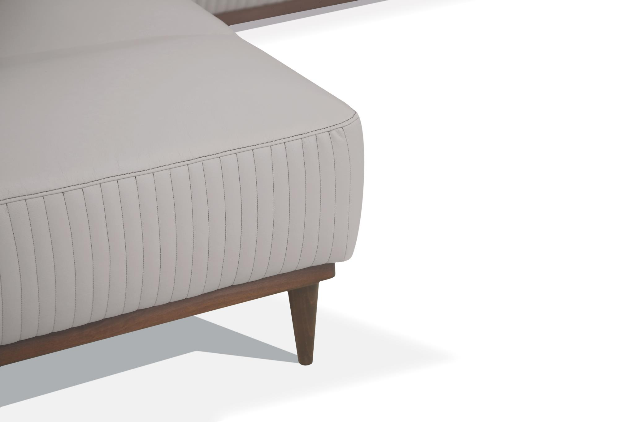 Pearl Gray Left Facing Chaise Details