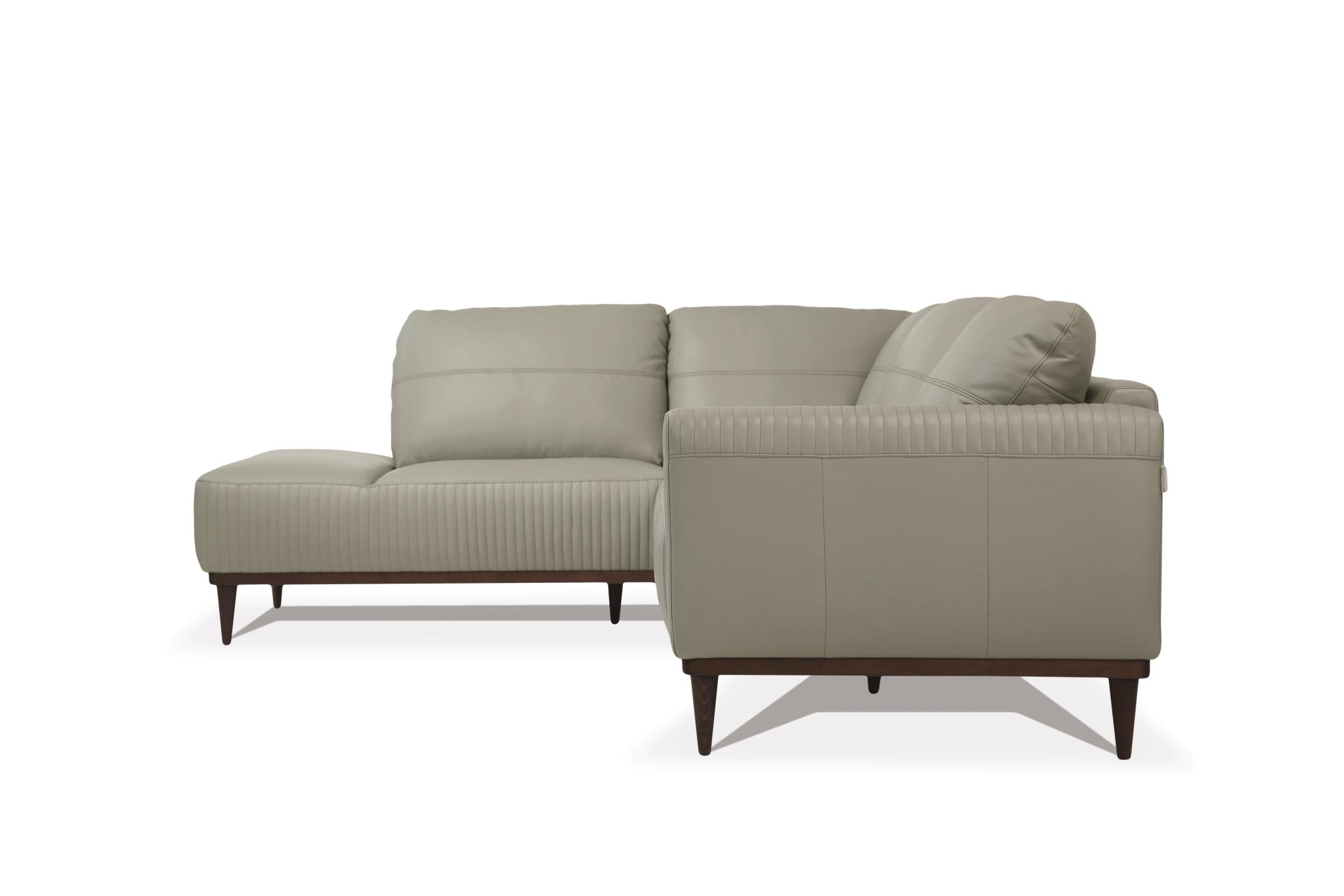 Airy Green Sectional Sofa w/ Left Facing Chaise Side