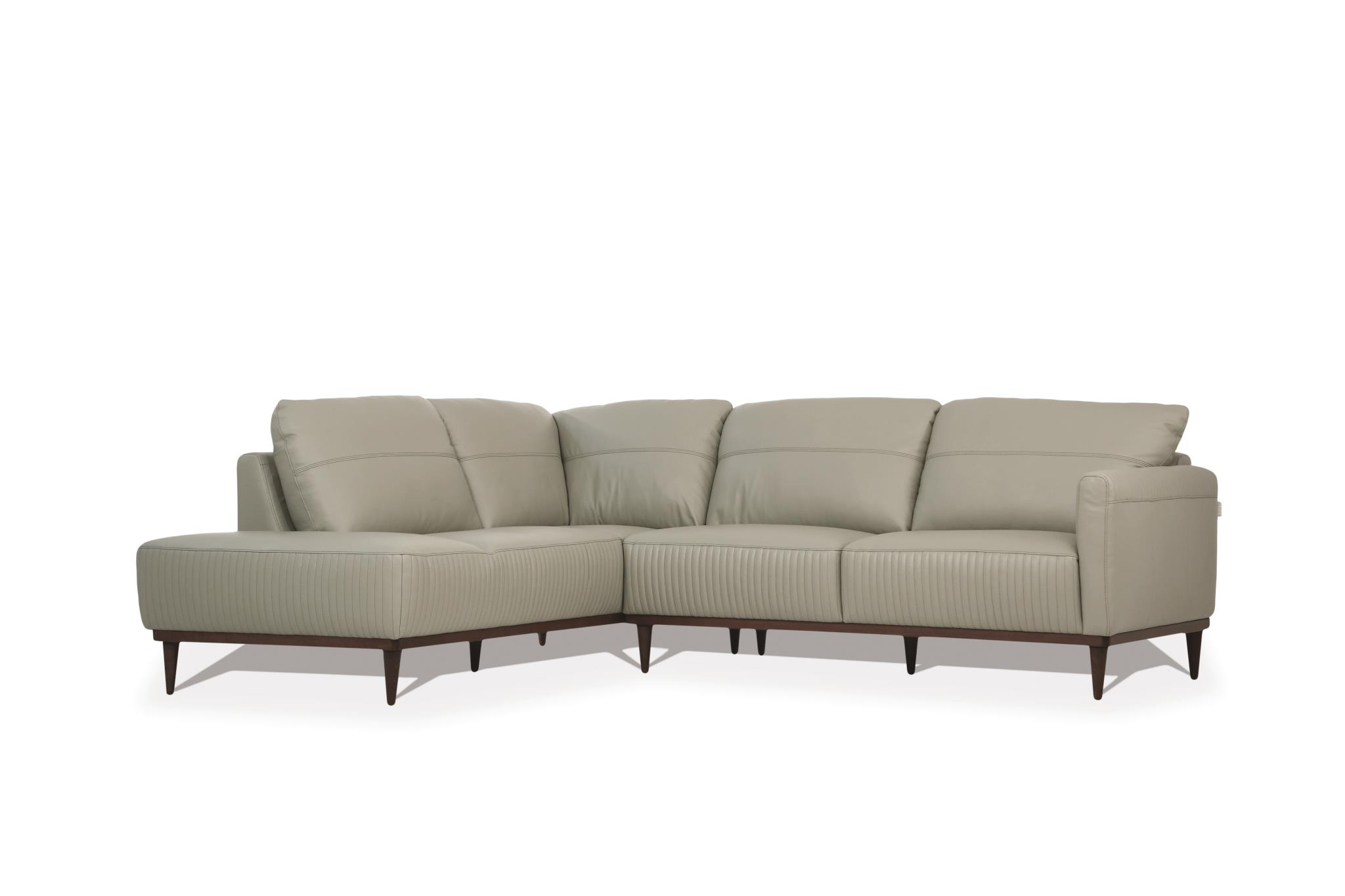 Airy Green Sectional Sofa w/ Left Facing Chaise Angle