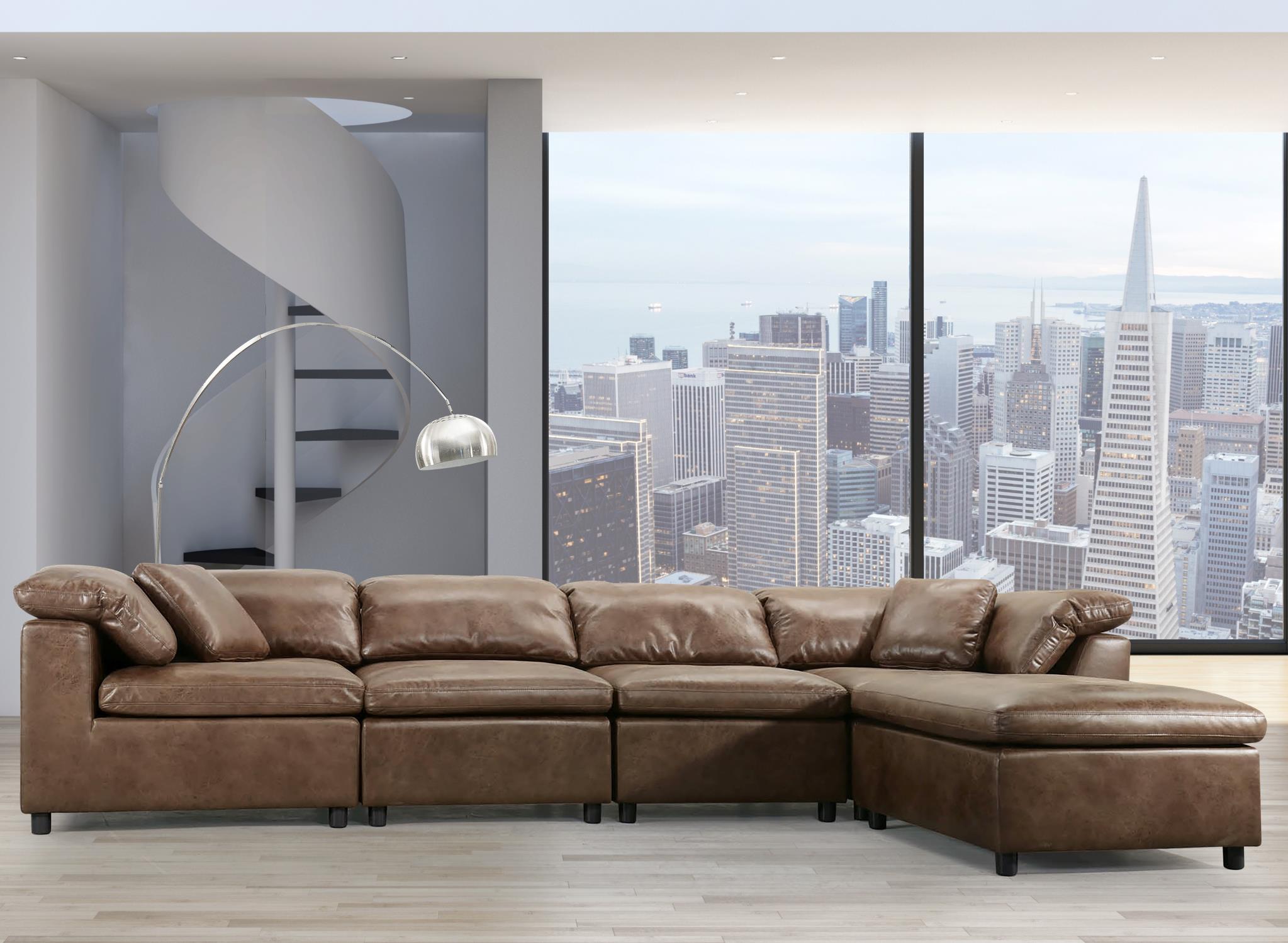 2-Tone Mocha Sectional Sofa
