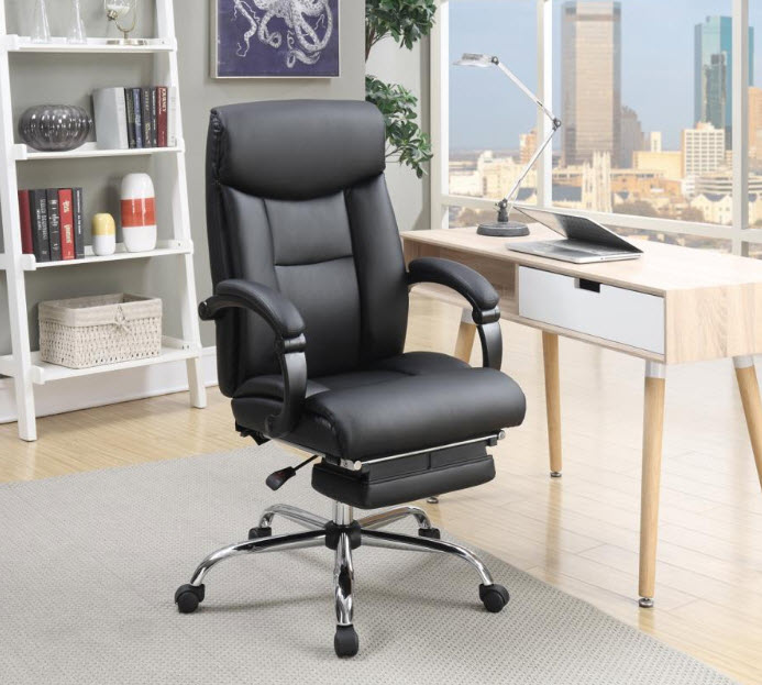 Michael Adjustable and Reclining Office Chair With Built-In Footrest