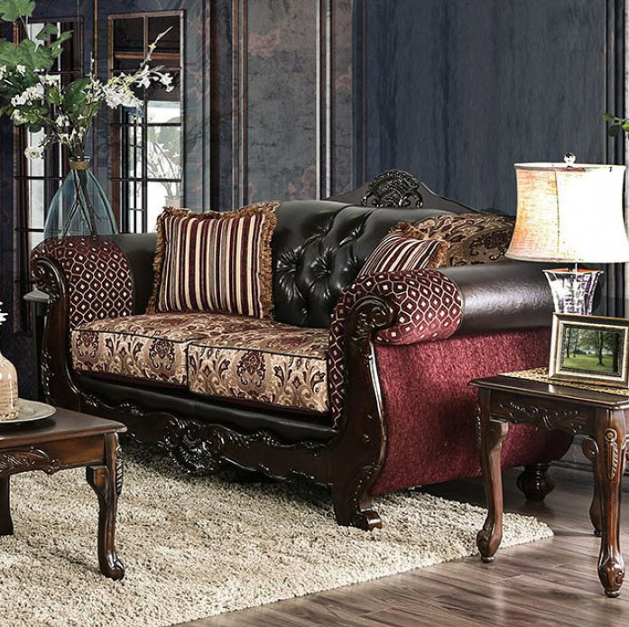 Burgundy Loveseat
