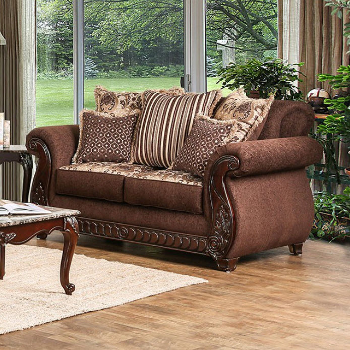 Brown Loveseat