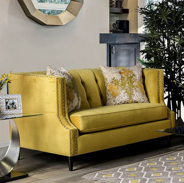 Royal Yellow Loveseat