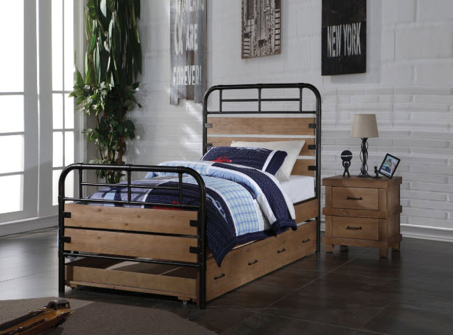 Bed W/Trundle & Nightstand
