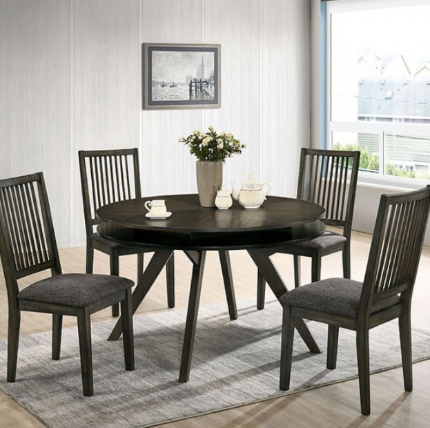 Cherie Mid-Century Modern Round Dining Table