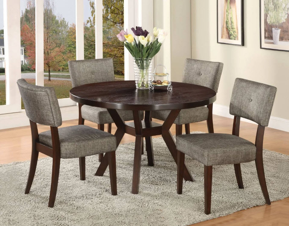 Drake Contemporary Round Dining Table