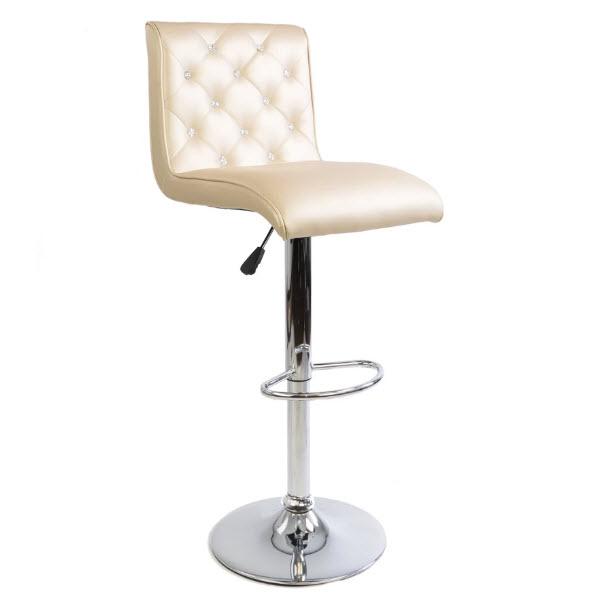 Admirable Elizabeth Crystal Tufted Vanity Stool Ibusinesslaw Wood Chair Design Ideas Ibusinesslaworg