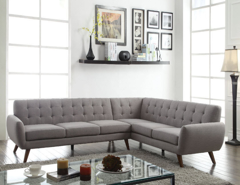 Essick Mid-Century Style Sectional Sofa