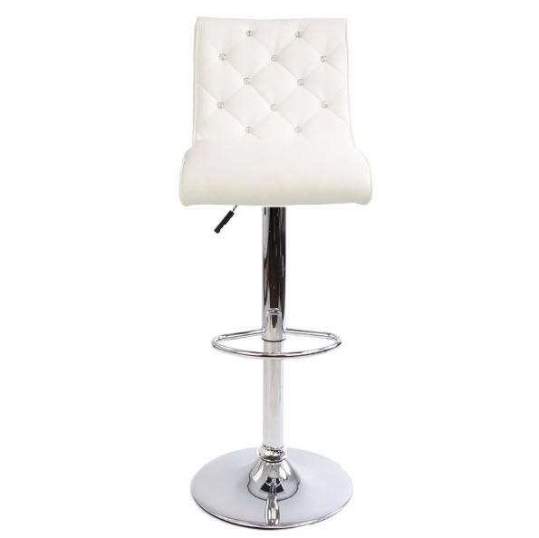 Astounding Elizabeth Crystal Tufted Vanity Stool Ibusinesslaw Wood Chair Design Ideas Ibusinesslaworg
