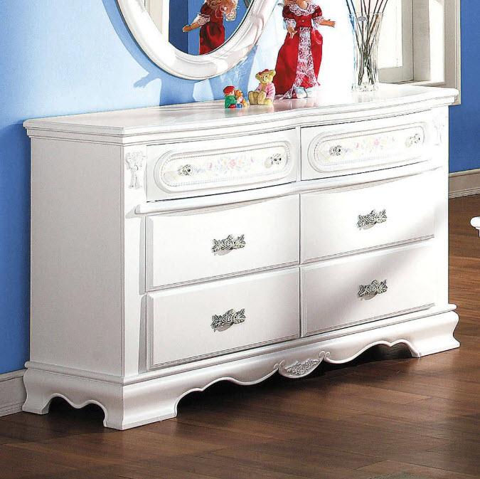 Drawer Dresser W/Oval Mirror
