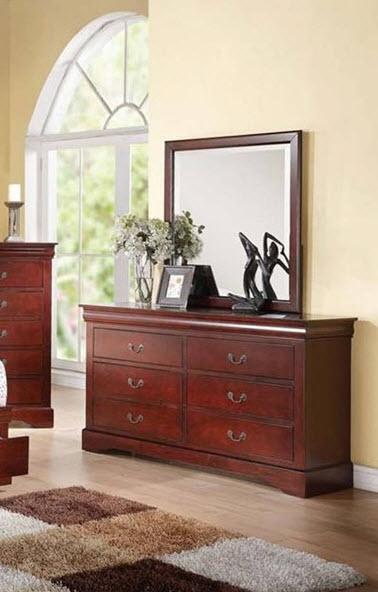 Cherry Dresser W/Mirror